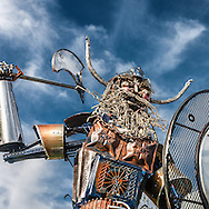 Artist Joe Gagnepain (www.artbyjoseph.com) created this fierce viking mascot for Geneva High School. The viking, with blazing eyes and battle axe at the ready, crushes his opponents.