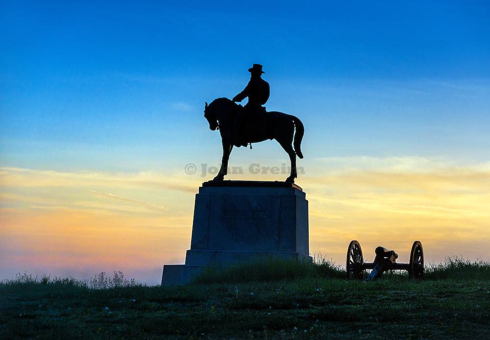 General Howard Monument, Cemetery Hill, Gettysburg National Military Park, Pennsylvania, USA