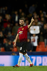 December 12, 2018 - Valencia, Spain - Juan Mata of Manchester United during the match between Valencia CF and Manchester United at Mestalla Stadium in Valencia, Spain on December 12, 2018. (Credit Image: © Jose Breton/NurPhoto via ZUMA Press)
