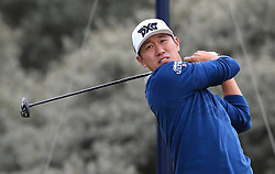 USA's James Hahn tees off the 2nd during day three of The Open Championship 2017 at Royal Birkdale Golf Club, Southport. PRESS ASSOCIATION Photo. Picture date: Saturday July 22, 2017. See PA story GOLF Open. Photo credit should read: Peter Byrne/PA Wire. RESTRICTIONS: Editorial use only. No commercial use. Still image use only. The Open Championship logo and clear link to The Open website (TheOpen.com) to be included on website publishing. Call +44 (0)1158 447447 for further information.