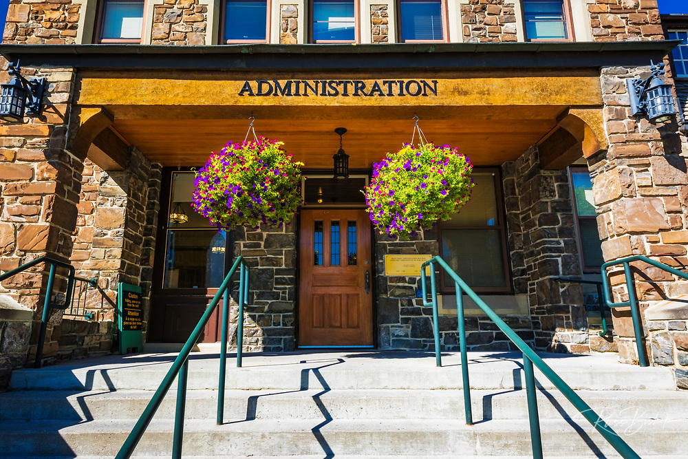 The Banff Administration Building, Banff National Park, Alberta, Canada