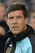 Bristol Rovers manager Darrell Clarke during the The FA Cup match between Bristol Rovers and Chesham FC at the Memorial Stadium, Bristol, England on 8 November 2015. Photo by Alan Franklin.