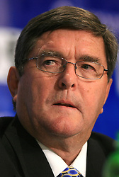 Fred MacGillivray, chair of the Halifax host committee at Press conference of IIHF at  IIHF WC 2008 in Halifax, on May 06, 2008 in Metro Center, Halifax, Nova Scotia, Canada. (Photo by Vid Ponikvar / Sportal Images)
