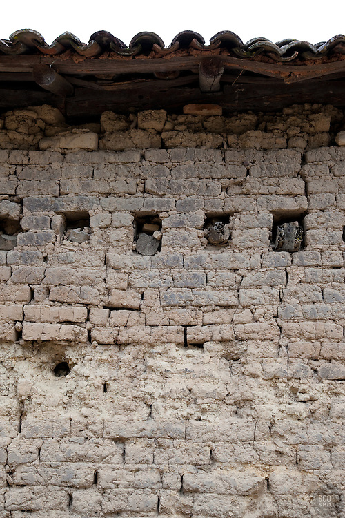 """""""Wall 5"""" - This old wall was photographed in the small mountain town of San Sebastian, Mexico."""