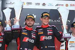 May 6, 2018 - Brands Hatch, Grande Bretagne - 2 BELGIAN AUDI CLUB TEAM WRT (BEL) AUDI R8 LMS DRIES VANTHOOR (BEl) WILL STEVENS (GBR) WINNERS OF THE RACE (Credit Image: © Panoramic via ZUMA Press)