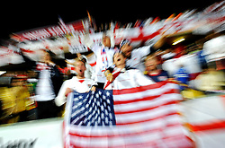USA fans get in the mood during the 2010 FIFA World Cup South Africa Group C match between England and USA at the Royal Bafokeng Stadium on June 12, 2010 in Rustenburg, South Africa.