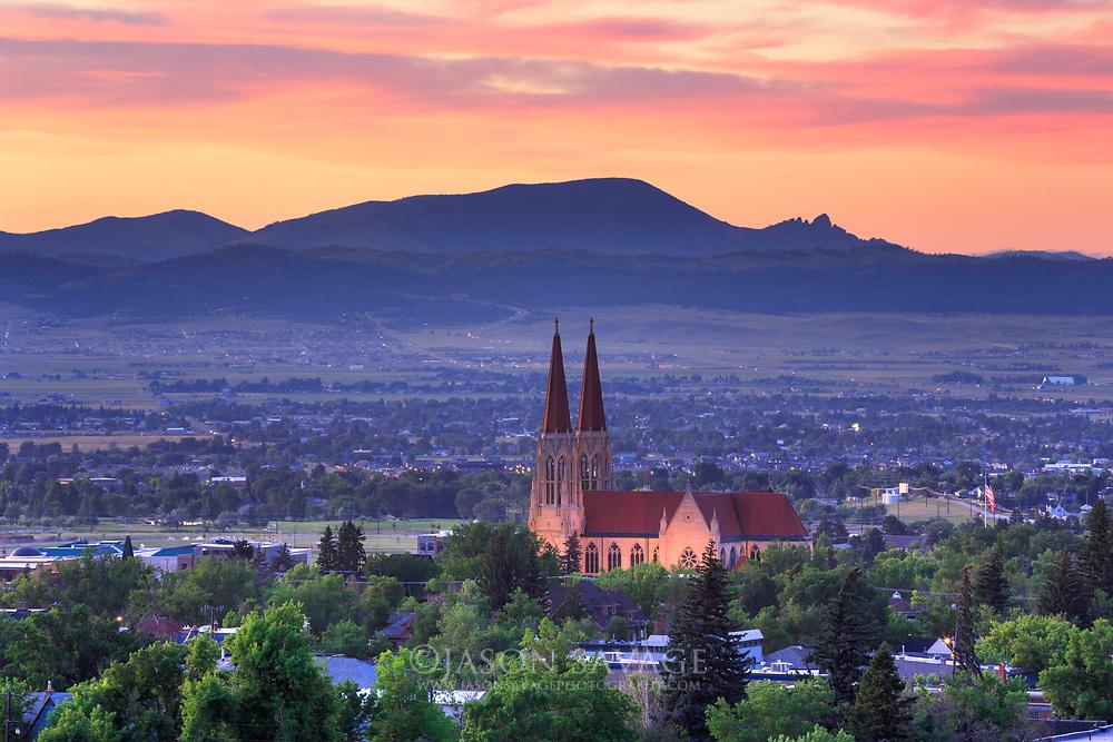 Sunset over Helena, Montana.