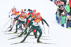 16.12.2017, Nordische Arena, Ramsau, AUT, FIS Weltcup Nordische Kombination, Langlauf, im Bild Eric Frenzel (GER) und weitere Teilnehmer // Eric Frenzel of Germany and other competitors during Cross Country Competition of FIS Nordic Combined World Cup, at the Nordic Arena in Ramsau, Austria on 2017/12/16. EXPA Pictures © 2017, PhotoCredit: EXPA/ Martin Huber