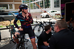 Lisa Klein (GER) returns from a recon of the course at Boels Ladies Tour 2018 - Prologue, a 3.3 km time trial in Arnhem, Netherlands on August 28, 2018. Photo by Sean Robinson/velofocus.com