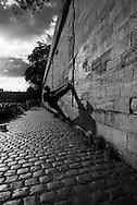 France. Paris.  people enjoying sunset on the quay notre dame, by the seine river Paris / les gens se pressent sur le quai notre dame pour profiter du soleil. Paris  at sunset. Hip hop sur le quai