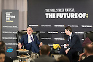 The Wall Street Journal The Future of: Healthcare breakfast event with Mark Bertolini, Chairman and CEO of Aetna, in discussion with Dennis K Berman, Financial Editor of the Wall Street Journal, in New York City on February 15, 2017. (photo by Gabe Palacio)