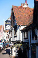 The 15th century Swan Inn at Lavenham, Suffolk, UK