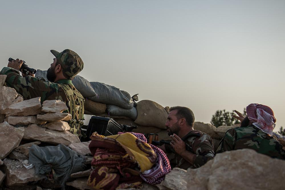 Yazidi Peshmerga on a frontline in Shingal (Sinjar), Iraq, September 8, 2015