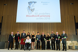 at 52th Annual Awards of Stanko Bloudek for sports achievements in Slovenia in year 2016 on February 14, 2017 in Brdo Congress Center, Brdo, Ljubljana, Slovenia.  Photo by Martin Metelko / Sportida