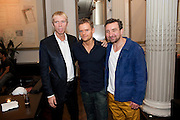 Richard Brake, Marc Warren and Eddie Marsan, Aldwych theatre's Cool Hand Luke first night party. Waldorf Hilton. London. 3 October 2011. <br /> <br />  , -DO NOT ARCHIVE-© Copyright Photograph by Dafydd Jones. 248 Clapham Rd. London SW9 0PZ. Tel 0207 820 0771. www.dafjones.com.