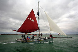 UK ENGLAND WEST MERSEA 13SEP09 - A smack, a historic light sailing boat during the annual Oyster dredge match off the coast of West Mersea, Essex, England.....jre/Photo by Jiri Rezac / WWF UK....© Jiri Rezac 2009