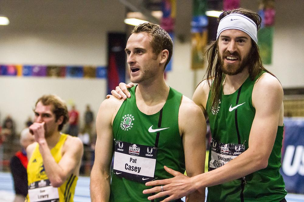 USATF Indoor Track & Field Championships: mens mile, Nike OTC Elite, Pat Casey, Ben Blankenship