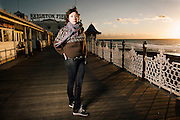 """Portrait of Singer Martha Wainwright on Brighton Pier, UK on Friday 7th December 2012..Martha has just released her new album """"Come home to mama"""" and is on the UK part of her world tour...Photo By Ki Price"""