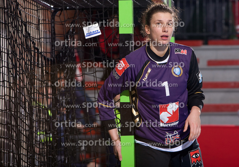 Jelena Grubisic of Krim at handball match of Round 5 of Champions League between RK Krim Mercator and Metz Handball, France, on January 9, 2010 in Kodeljevo, Ljubljana, Slovenia. (Photo by Vid Ponikvar / Sportida)