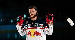 10.08.2015, Red Bull Akademie Liefering, Salzburg, AUT, EBEL, Medien Tag, im Bild Thomas Raffl (EC Red Bull Salzburg) // during the Erste Bank Icehockey League Media Da at the Red Bull Football and Icehockey Academy Liefering in Salzburg, Austria on 2015/08/10. EXPA Pictures © 2015, PhotoCredit: EXPA/ JFK