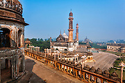 View from Bara Imambara of the Asfi Mosque in the Imambara complex in Lucknow, Uttar Pradesh, India. Imambara is a shrine built by Shia Muslims for the purpose of Azadari.