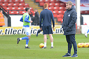 Peterborough United manager Grant McCann watching the teams warm up before the EFL Sky Bet League 1 match between Walsall and Peterborough United at the Banks's Stadium, Walsall, England on 18 February 2017. Photo by Jacqueline Theodosi.