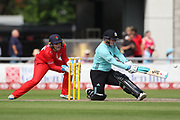 Lizelle Lee of the Surrey Stars during the Women's Cricket Super League match between Lancashire Thunder and Surrey Stars at the Emirates, Old Trafford, Manchester, United Kingdom on 7 August 2018.