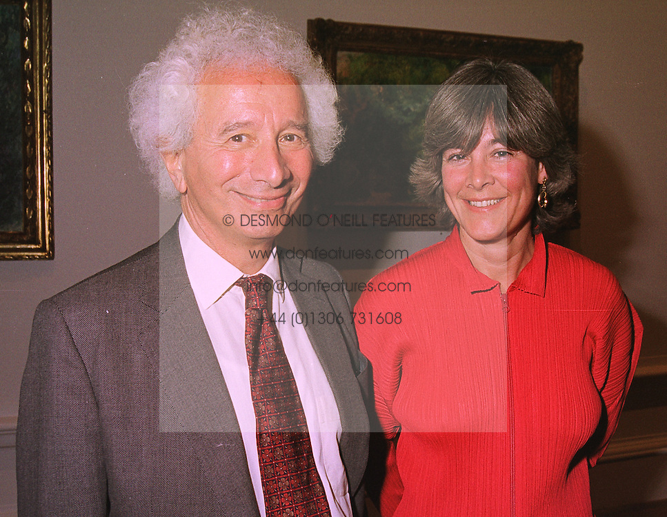 MR & MRS ROBERT GAVRON, he is the multi millionaire, at an exhibition in London on 19th January 1999.MNH 20