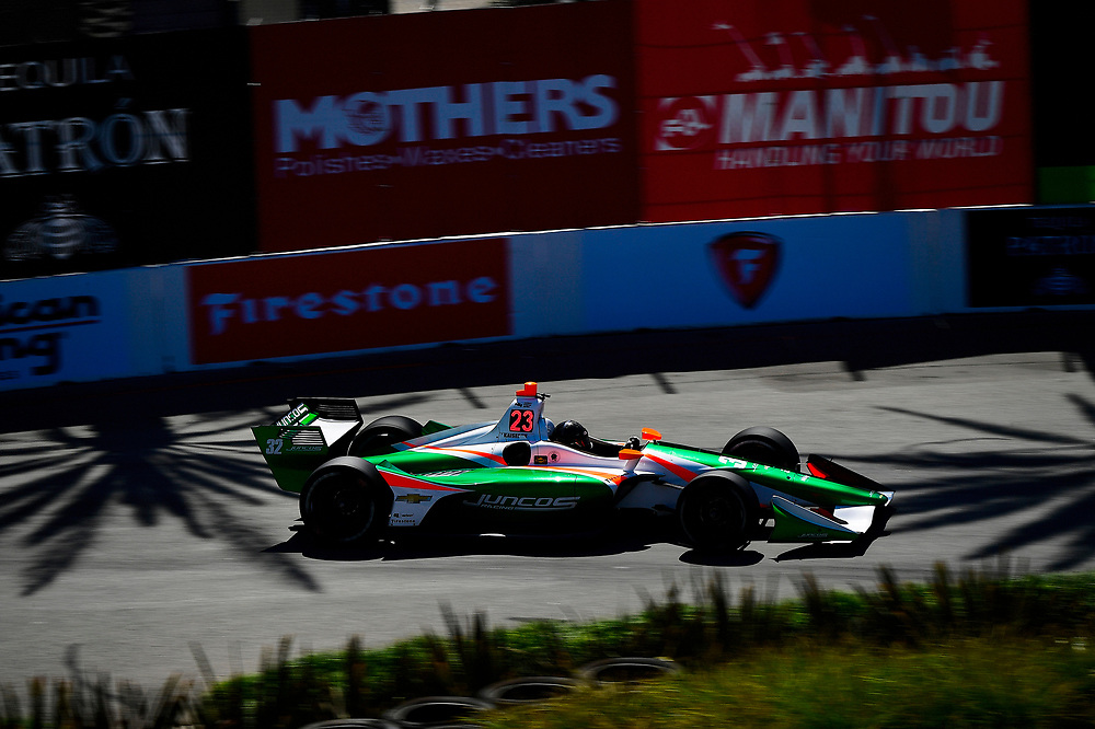 Kyle Kaiser, Juncos Racing Chevrolet<br /> Saturday 14 April 2018<br /> Toyota Grand Prix of Long Beach<br /> Verizon IndyCar Series<br /> Streets of Long Beach, California USA<br /> World Copyright: Scott R LePage<br /> LAT Images