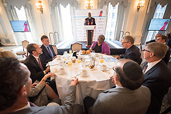 13 September 2017, New York, USA: On Gathering at the Yale Club in New York on 13 September for an interfaith prayer breakfast, faith leaders from a multitude of religions came together to support a coordinated faith-based effort in responding to HIV. The event was hosted by the World Council of Churches–Ecumenical Advocacy Alliance (WCC-EAA) in collaboration with UNAIDS, the United States President's Emergency Plan for AIDS Relief and the United Nations Interagency Task Force on Religion and Development on the side-lines of the 72nd session of the United Nations General Assembly. Here, listening to Rev. Edwin Sanders from Metropolitan Interdenominational Church in the USA.