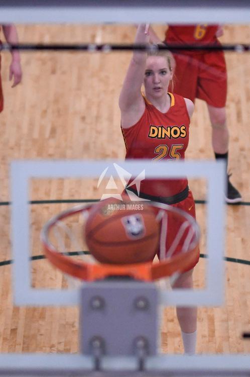 U Sports 2018 Women's National Basketball Championship consolation final on March  10 at the Centre for Kinesiology, Health and Sport Regina,Saskatchewan. Credit: Arthur Ward/Arthur Images