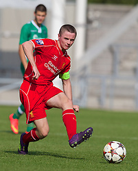 LIVERPOOL, ENGLAND - Tuesday, September 16, 2014: Liverpool's captain Jordan Rossiter in action against PFC Ludogorets Razgrad during the UEFA Youth League Group B match at Langtree Park. (Pic by David Rawcliffe/Propaganda)