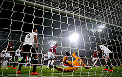 West Ham United's Javier Hernandez (second right) scores his side's first goal of the game during the Premier League match at London Stadium.