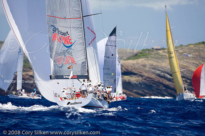 Panthera sailing Race 4 at Antigua Sailing Week.