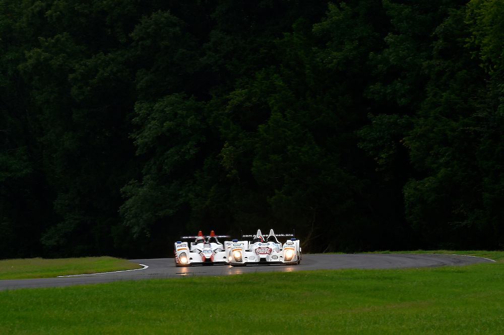 22-24 August 2014, Alton, Virginia USA<br /> 52, Chevrolet, ORECA FLM09, PC, Frankie Montecalvo, Gunnar Jeannette, 54, Chevrolet, ORECA FLM09, PC, Jon Bennett, Colin Braun<br /> &copy;2014, Scott R LePage <br /> LAT Photo USA