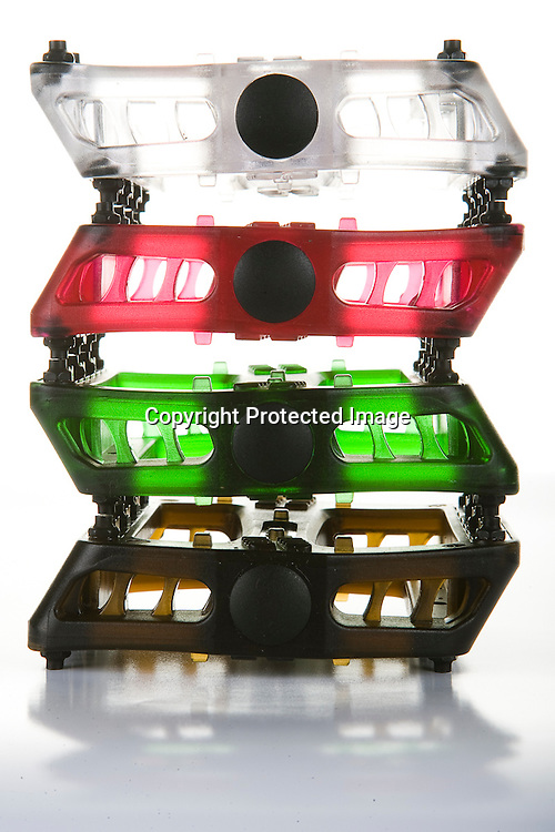 Backlit plastic pedals made by Arestic.