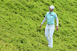 March 2, 2019 - Singapore - Sung Hyun Park of South Korea looks for her ball on the 8th hole during the third round of the Women's World Championship at the Tanjong Course, Sentosa Golf Club. (Credit Image: © Paul Miller/ZUMA Wire)