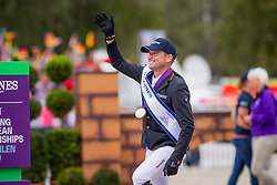 Individual Podium, Jung Michael, GER, Silver medal<br /> European Championship Eventing<br /> Luhmuhlen 2019<br /> © Hippo Foto - Dirk Caremans