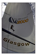 The Clipper Around the World Race 2000..Descending the Forestay.. .Marc Turner / PFM.www.pfmpictures.co.uk