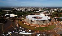 Football Fifa World Cup Brazil 2014 / <br /> Brasilia - Federal District  - Brazil - <br /> Mane Garrincha Stadium - Nacional Stadium of Brasilia - Panoramic View of Stadium , Ready for the next  <br /> FIFA World Cup Brazil 2014  , and able to accommodate a capacity of 68,009  Spectators