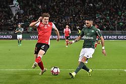 November 10, 2018 - Saint Etienne - Stade Geoffroy, France - Remy Cabella (saint etienne) vs Bjorn Engels  (Credit Image: © Panoramic via ZUMA Press)