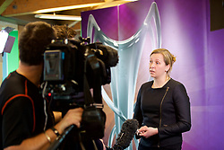 CARDIFF, ENGLAND - Tuesday, February 21, 2017: Jayne Ludlow, Wales 2017 UEFA Women's Champions League Final Ambassador and Current Wales National Team Manager is interviewed by the media in Cardiff Library to promote the men's and women's UEFA Champions League Finals being staged in Cardiff this June. (Pic by Paul Greenwood/Propaganda)