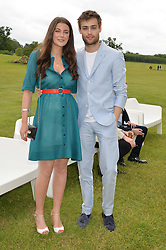 DOUGLAS BOOTH and MILLIE BRADY at the Audi Polo Challenge at Coworth Park, Blacknest Road, Ascot, Berkshire on 31st May 2015.