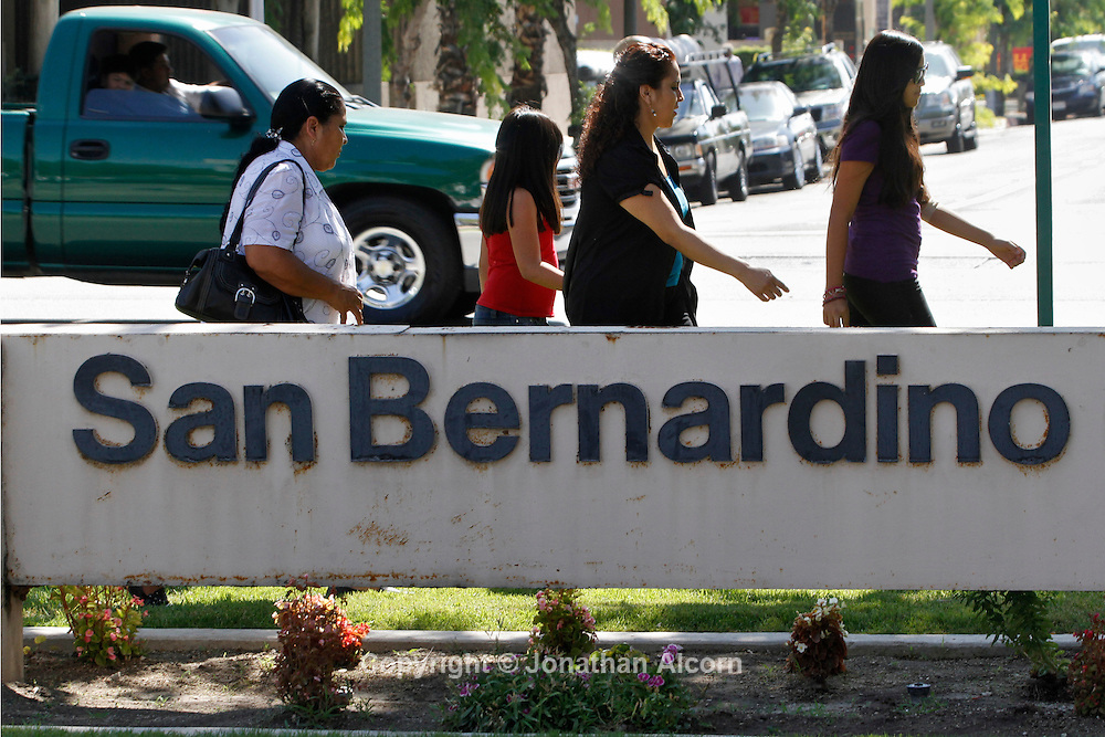 A view of City Hall in San Bernardino, California, U.S., on Wednesday, July 11, 2012. San Bernardino filed for bankruptcy on Aug. 1, becoming the third California city to seek bankruptcy protection since June,  as it struggles with declining tax revenue, growing employee costs and accounting discrepancies in its ledger