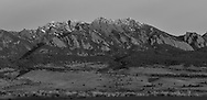 View of the Flatirons