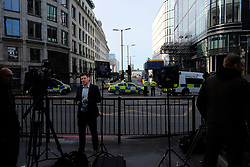 June 4, 2017 - London, England, United Kingdom - Police cordon off the area around London Bridge Borough Market on 4 June 2017 where terrorists killed three people and insured many more on Saturdy night. (Credit Image: © Jay Shaw Baker/NurPhoto via ZUMA Press)