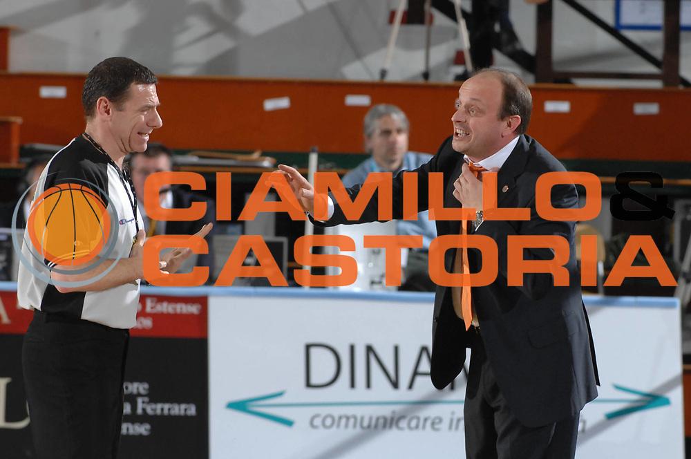 DESCRIZIONE : Ferrara Lega A2 2007-08 Final Four Coppa Italia Finale Fileni Jesi Carife Ferrara<br /> GIOCATORE : Andrea Capobianco Arbitro<br /> SQUADRA : Fileni Jesi<br /> EVENTO : Campionato Lega A2 2007-2008 <br /> GARA : Fileni Jesi Carife Ferrara<br /> DATA : 02/03/2008 <br /> CATEGORIA : Ritratto Delusione<br /> SPORT : Pallacanestro <br /> AUTORE : Agenzia Ciamillo-Castoria/M.Gregolin
