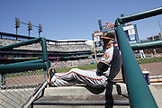 DETROIT, MI - JUNE 19: Matt Wieters of the Baltimore Orioles watches from the dugout steps during the game against the Detroit Tigers at Comerica Park on June 19, 2013 in Detroit, Michigan. Orioles won 13-3. (Photo by Joe Robbins)