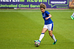 BIRKENHEAD, ENGLAND - Sunday, April 29, 2018: Everton's Gabby George during the FA Women's Super League 1 match between Liverpool FC Ladies and Everton FC Ladies at Prenton Park. (Pic by David Rawcliffe/Propaganda)