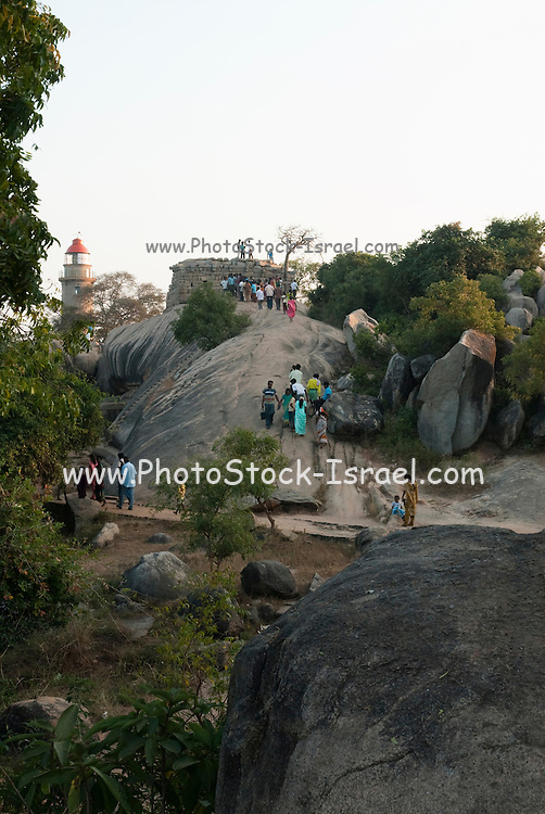 India, Mahabalipuram, Arjuna's Penance or Bhagiratha's Penance is the name of a massive open air bas-relief monolith dating from the 7th century CE located in the town of Mahabalipuram in Southern India. Measuring 96 feet long by 43 feet high, the bas-relief is also known as The Descent of Ganga.